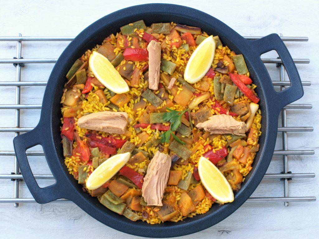 Rýže se zeleninou afilety ztuňáka