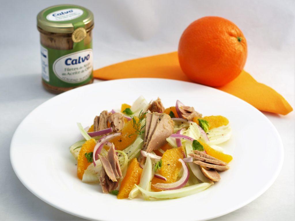 Pomerančový salát stuňákem afenyklem