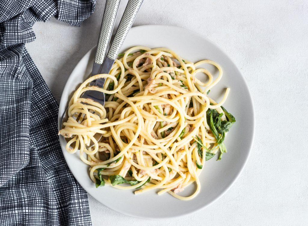 Špagety stuňákem arukolou