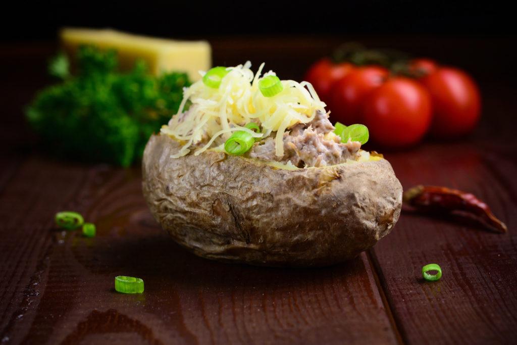 Pečené brambory stuňákovou nádivkou
